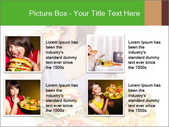 Overweight woman eating PowerPoint Template - Slide 14