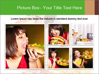 Overweight woman eating PowerPoint Template - Slide 19