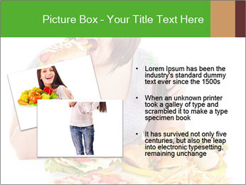 Overweight woman eating PowerPoint Template - Slide 20