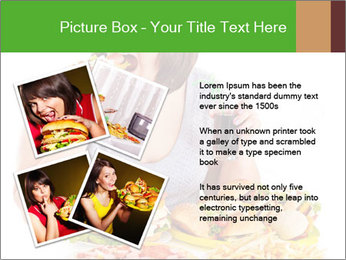 Overweight woman eating PowerPoint Template - Slide 23