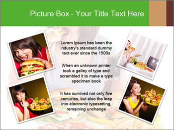 Overweight woman eating PowerPoint Template - Slide 24