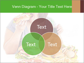 Overweight woman eating PowerPoint Template - Slide 33