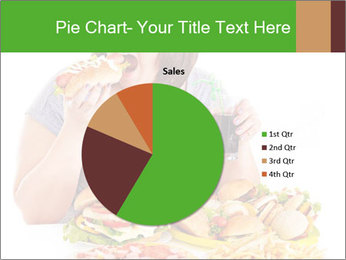 Overweight woman eating PowerPoint Template - Slide 36