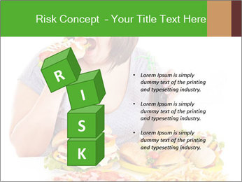 Overweight woman eating PowerPoint Template - Slide 81