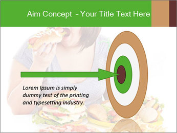 Overweight woman eating PowerPoint Template - Slide 83