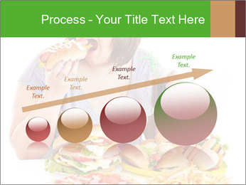 Overweight woman eating PowerPoint Template - Slide 87