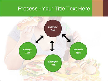 Overweight woman eating PowerPoint Template - Slide 91