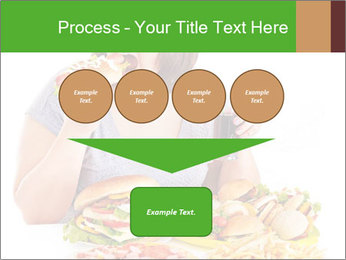 Overweight woman eating PowerPoint Template - Slide 93