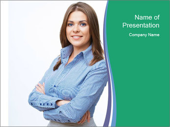 Smiling business woman PowerPoint Template - Slide 1