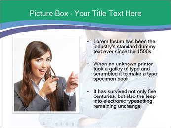 Smiling business woman PowerPoint Templates - Slide 13