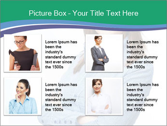 Smiling business woman PowerPoint Template - Slide 14