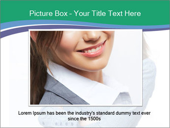 Smiling business woman PowerPoint Template - Slide 15
