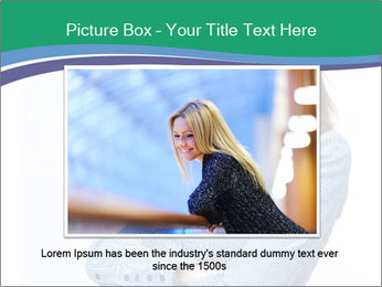 Smiling business woman PowerPoint Templates - Slide 16