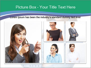 Smiling business woman PowerPoint Template - Slide 19
