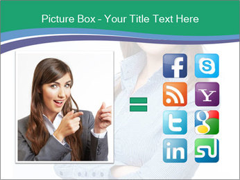 Smiling business woman PowerPoint Template - Slide 21
