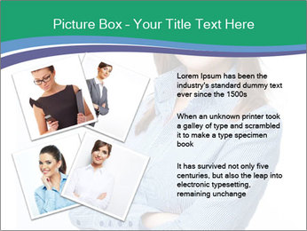 Smiling business woman PowerPoint Templates - Slide 23