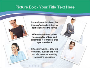 Smiling business woman PowerPoint Template - Slide 24