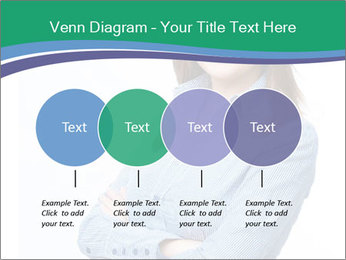 Smiling business woman PowerPoint Templates - Slide 32