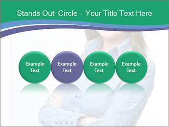 Smiling business woman PowerPoint Templates - Slide 76