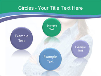 Smiling business woman PowerPoint Templates - Slide 77