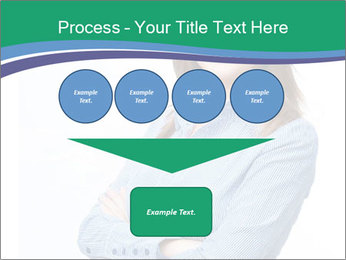 Smiling business woman PowerPoint Templates - Slide 93