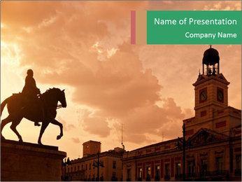 Equestrian statue PowerPoint Template - Slide 1