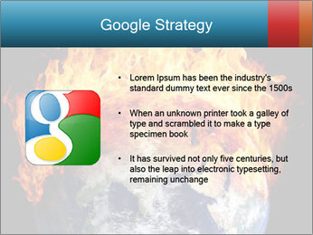 Burning earth globe PowerPoint Template - Slide 10