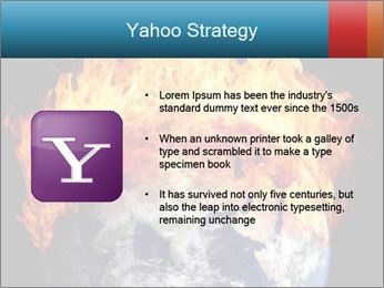 Burning earth globe PowerPoint Template - Slide 11