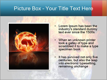 Burning earth globe PowerPoint Template - Slide 13