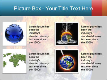 Burning earth globe PowerPoint Template - Slide 14
