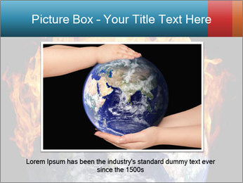 Burning earth globe PowerPoint Template - Slide 15
