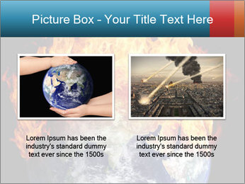 Burning earth globe PowerPoint Template - Slide 18