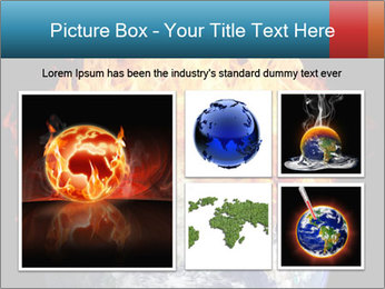 Burning earth globe PowerPoint Template - Slide 19