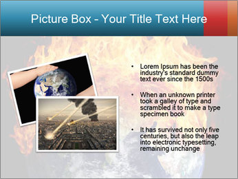 Burning earth globe PowerPoint Template - Slide 20