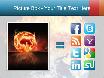 Burning earth globe PowerPoint Templates - Slide 21