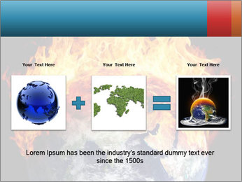 Burning earth globe PowerPoint Template - Slide 22