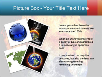 Burning earth globe PowerPoint Template - Slide 23