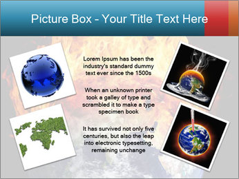 Burning earth globe PowerPoint Template - Slide 24