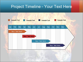 Burning earth globe PowerPoint Templates - Slide 25