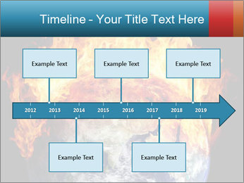 Burning earth globe PowerPoint Templates - Slide 28