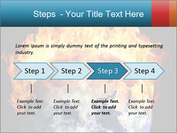 Burning earth globe PowerPoint Templates - Slide 4
