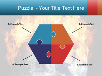 Burning earth globe PowerPoint Templates - Slide 40