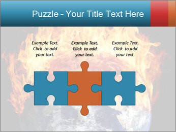 Burning earth globe PowerPoint Templates - Slide 42