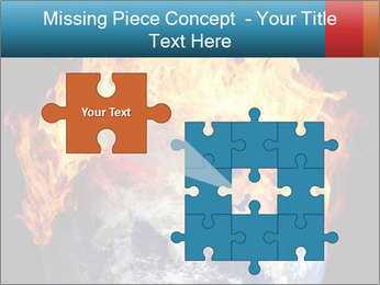 Burning earth globe PowerPoint Templates - Slide 45