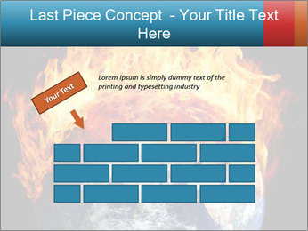 Burning earth globe PowerPoint Templates - Slide 46
