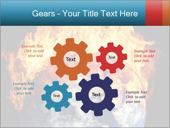 Burning earth globe PowerPoint Templates - Slide 47