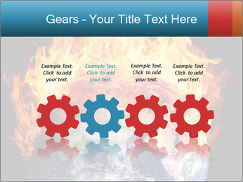 Burning earth globe PowerPoint Templates - Slide 48