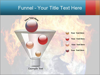 Burning earth globe PowerPoint Template - Slide 63
