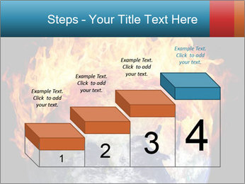 Burning earth globe PowerPoint Template - Slide 64