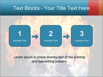 Burning earth globe PowerPoint Templates - Slide 71